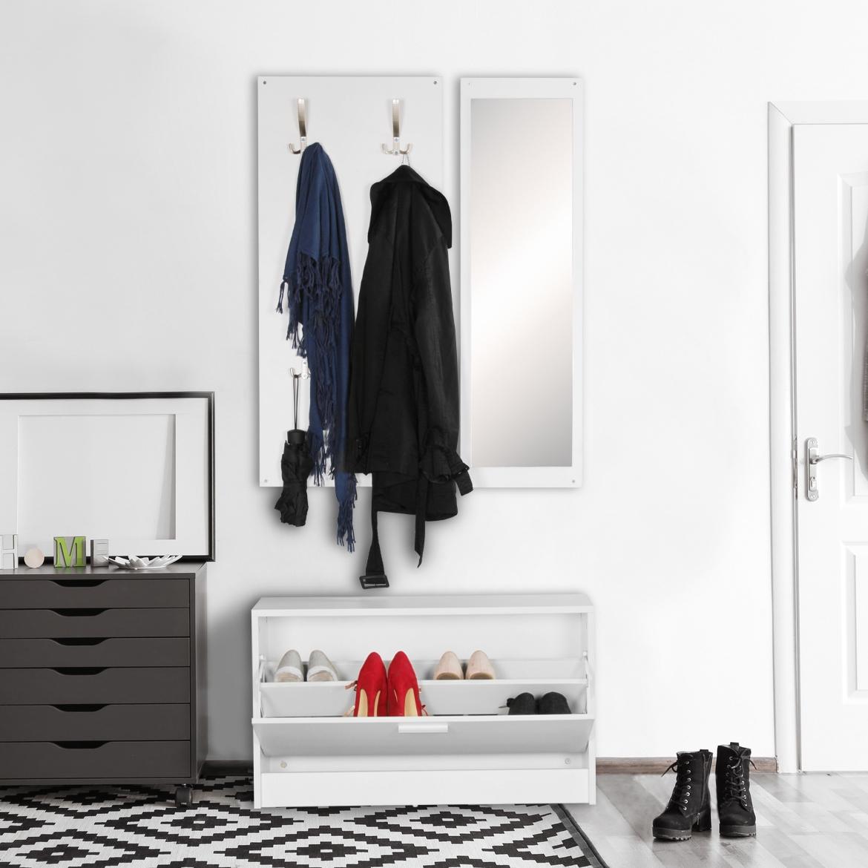 garderobe mit spiegel wohn design. Black Bedroom Furniture Sets. Home Design Ideas