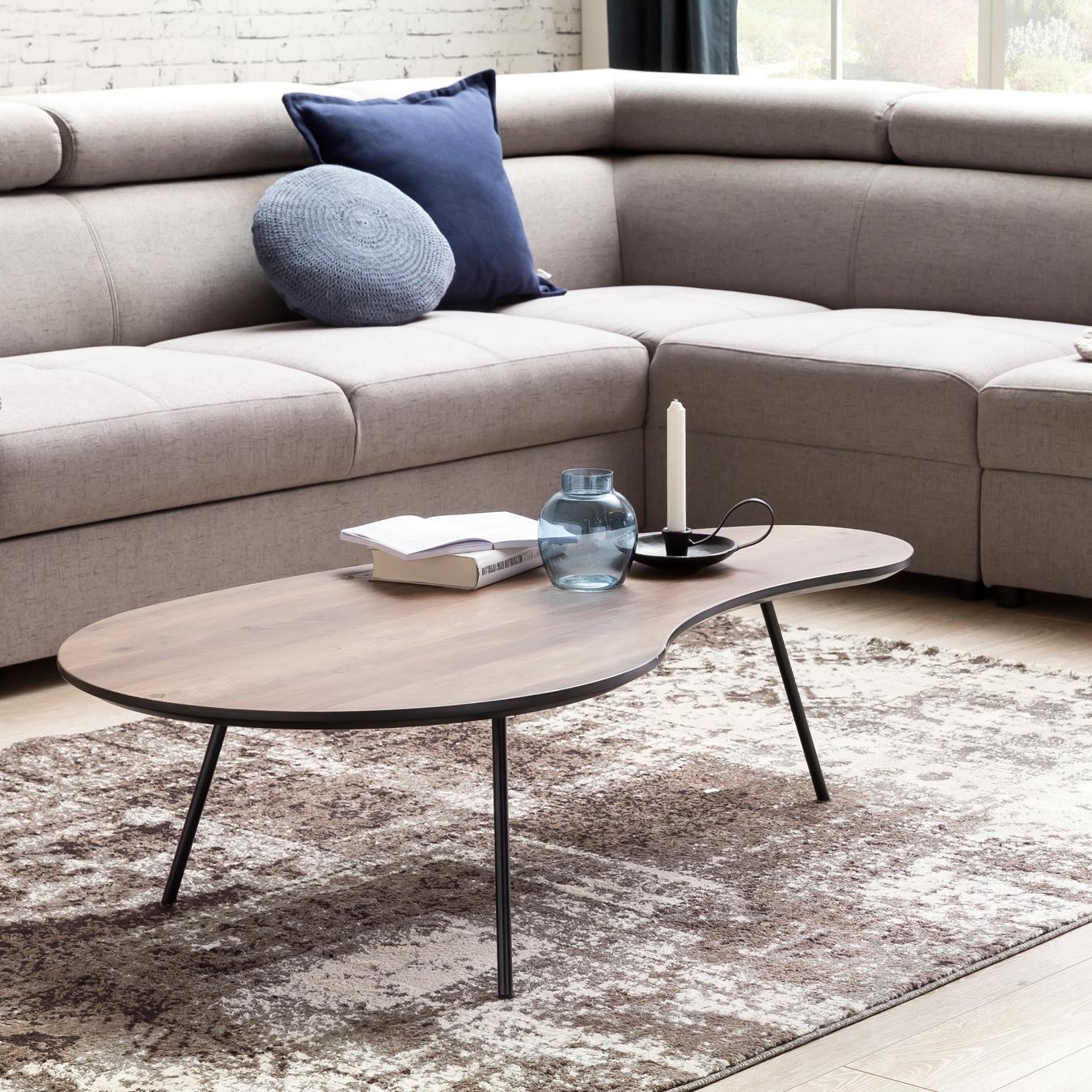 couchtisch mdf holz wohnzimmertisch metall kaffeetisch. Black Bedroom Furniture Sets. Home Design Ideas