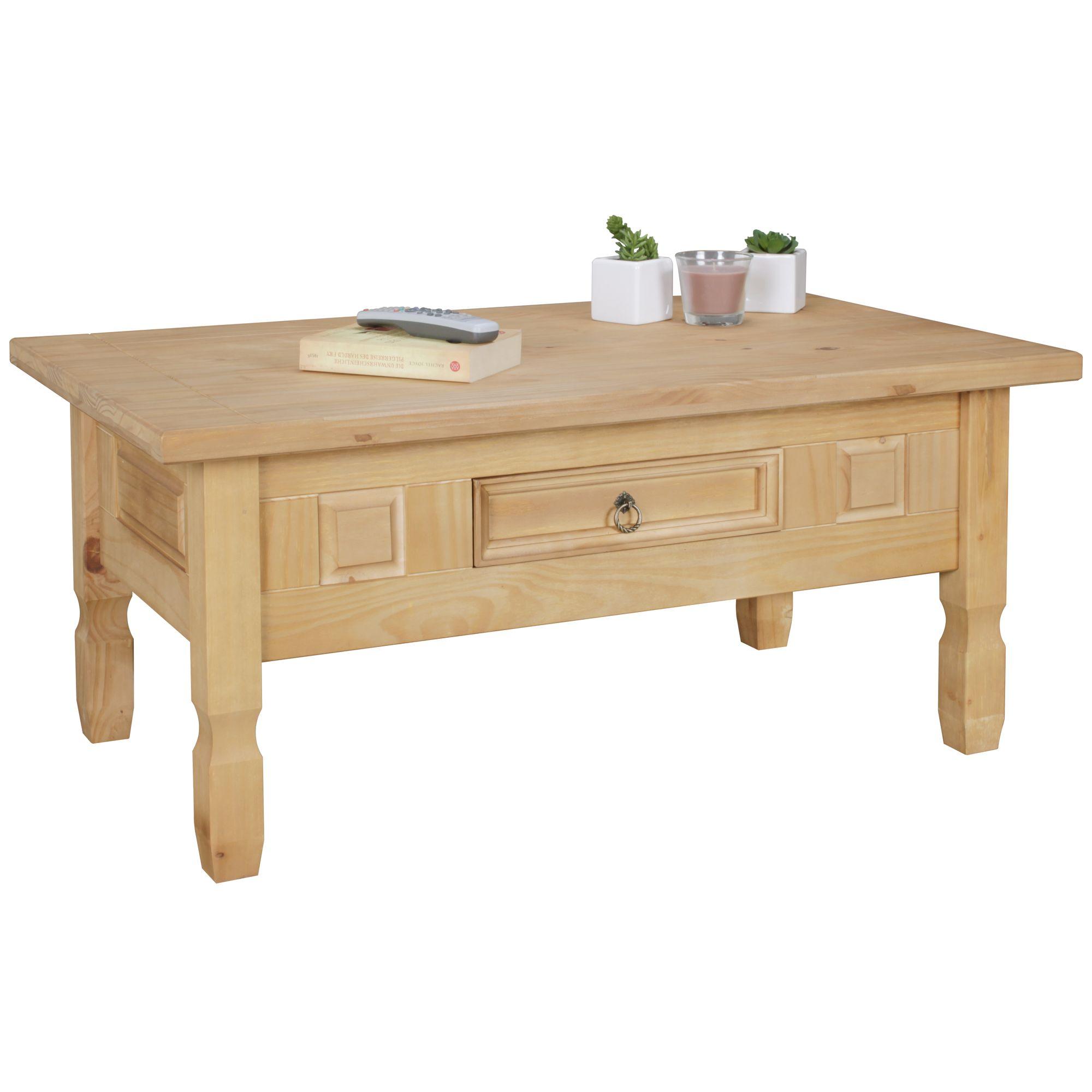 Couchtisch Kiefer Holz 100 X 60 Cm Wohnzimmertisch Massiv Tisch