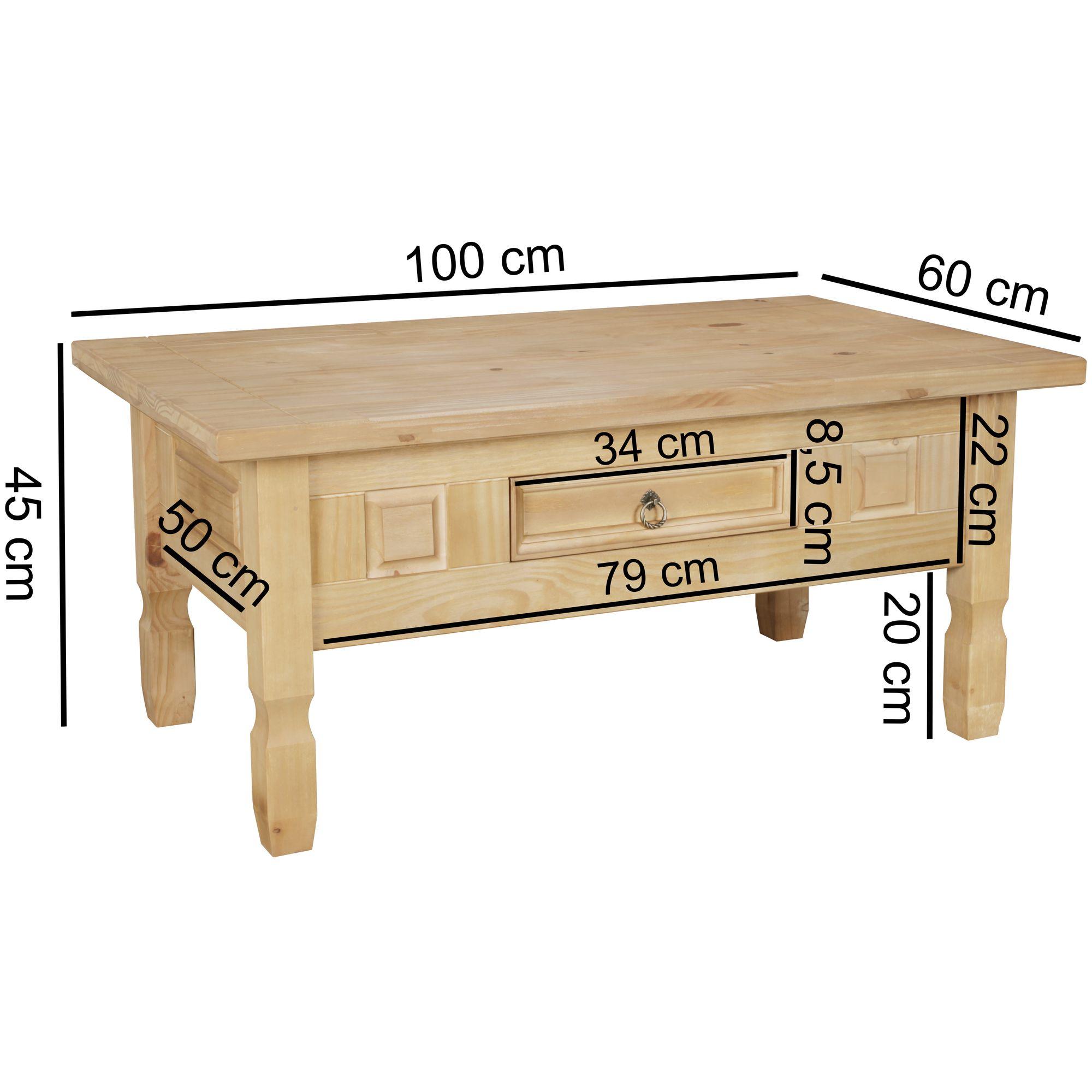 Innenarchitektur Couchtisch Holz Rustikal Beste Wahl Finebuy Kiefernholz Mit Schublade Und Metallgriff 100
