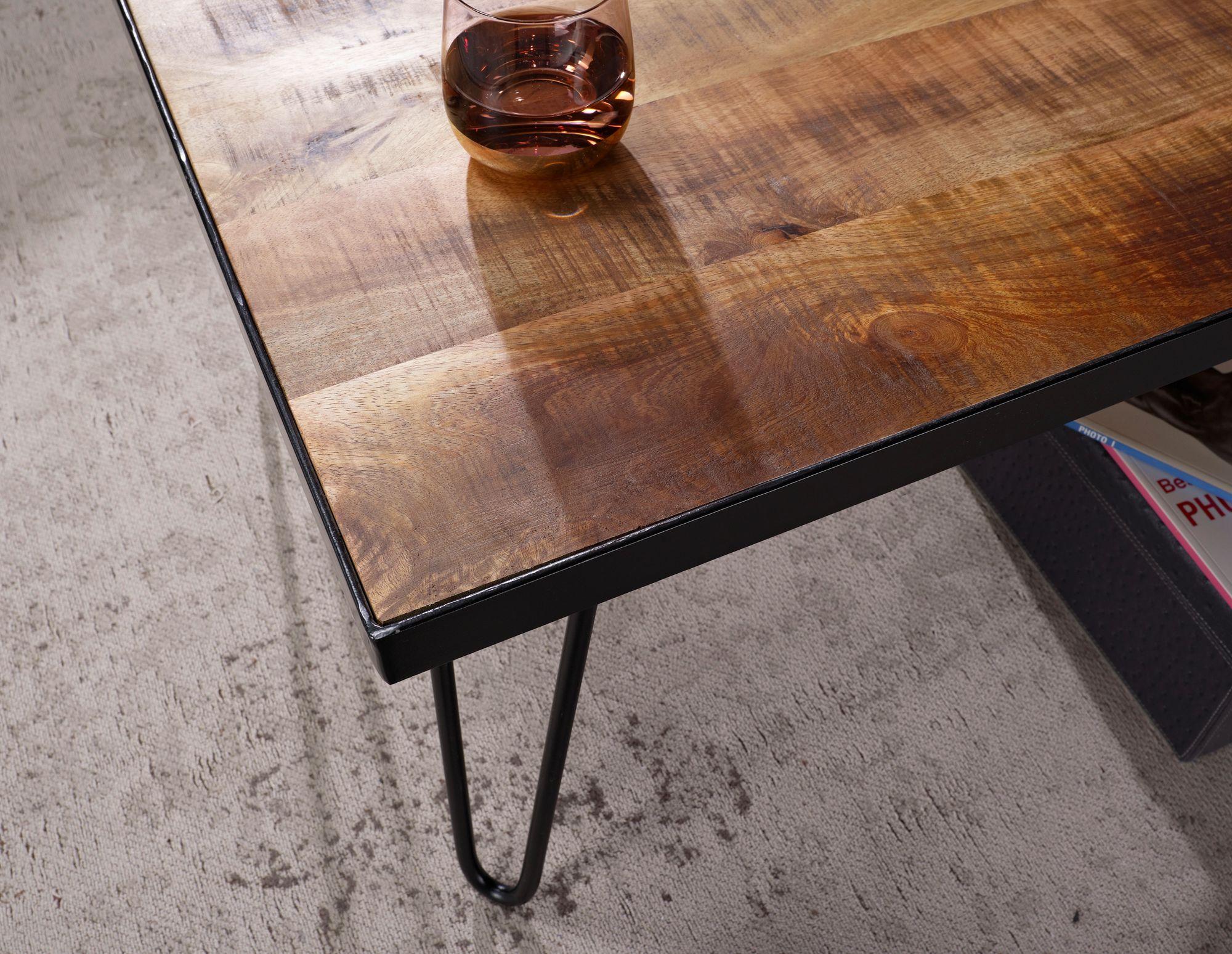 Massiver Couchtisch KIANA 110 x 60 Mango Massiv Wohnzimmertisch Holz Tisch