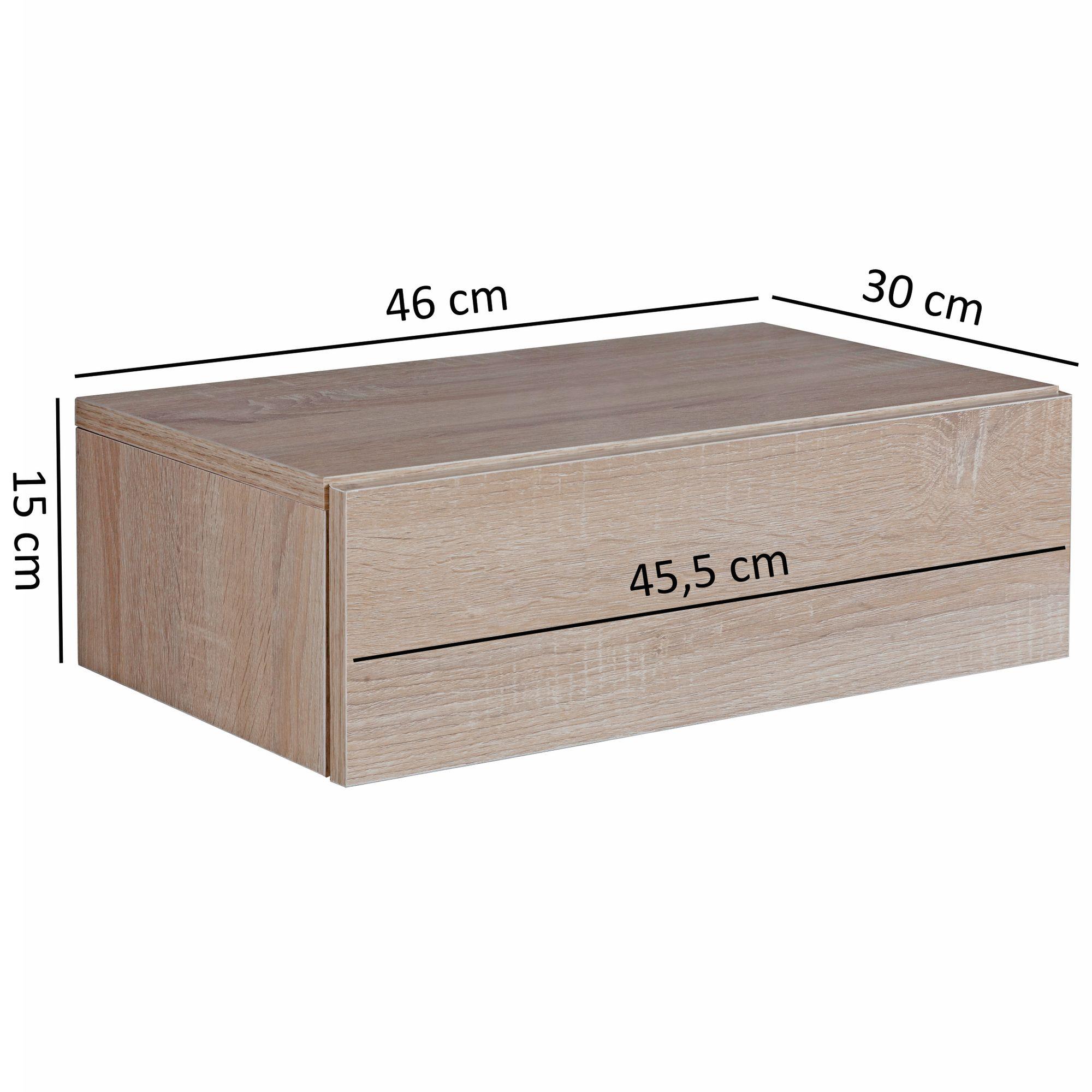 WOHNLING Nachtkonsole DREAM Wand Nachttisch Schwarz Wandboard Holz Boxspringbett