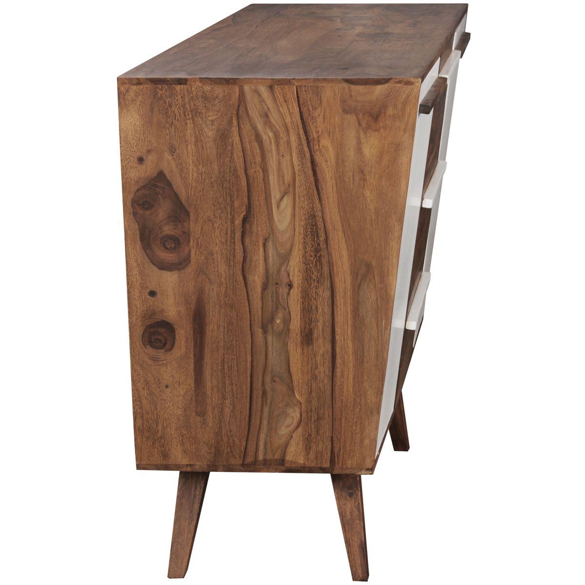 sideboard massivholz sheesham 140 cm anrichte highboard kommode schrank landhaus ebay. Black Bedroom Furniture Sets. Home Design Ideas