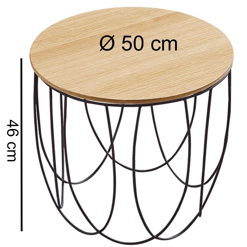 Beistelltisch 50 cm anstelltisch holz metall for Wohnzimmertisch 50 cm hoch