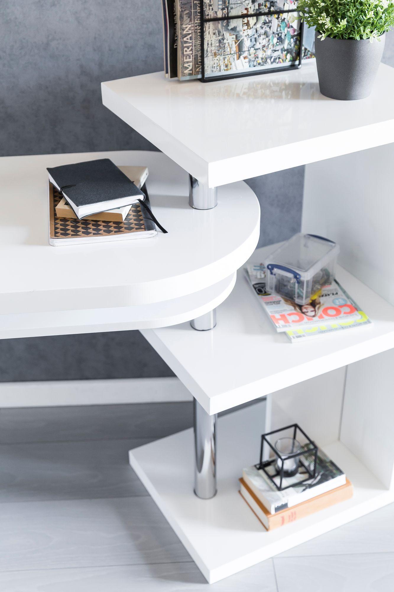 wohnling schreibtisch 145x50x94 cm wei hochglanz. Black Bedroom Furniture Sets. Home Design Ideas