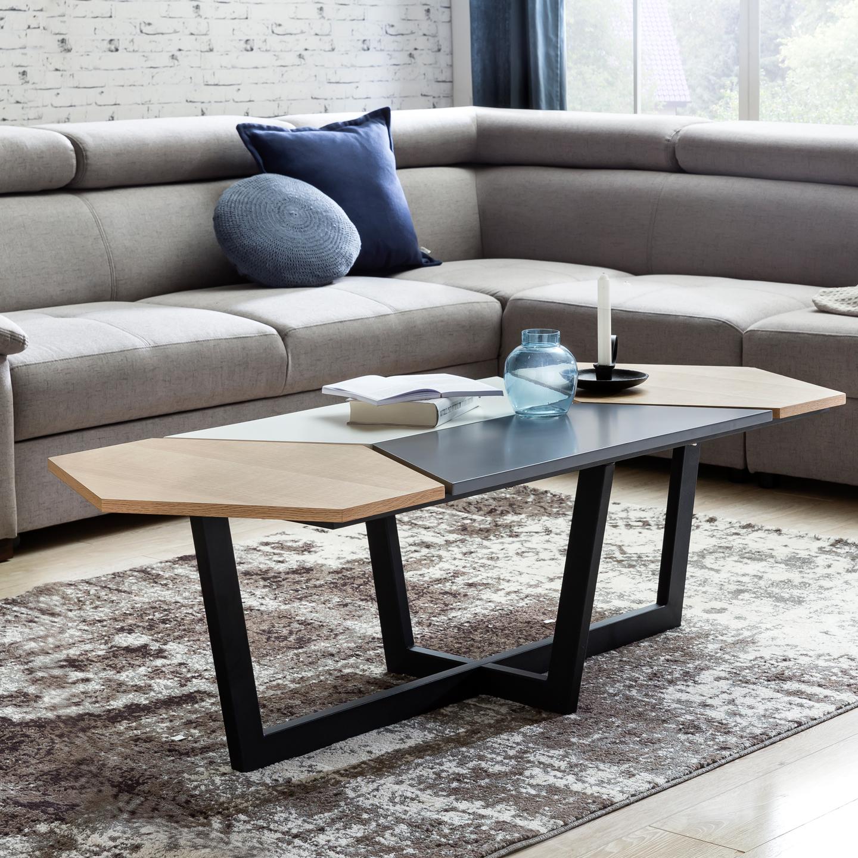 FineBuy Retro Couchtisch SCANIO 152 X 46 X 60 Cm Skandinavisches Eiche  Design | Großer Holz