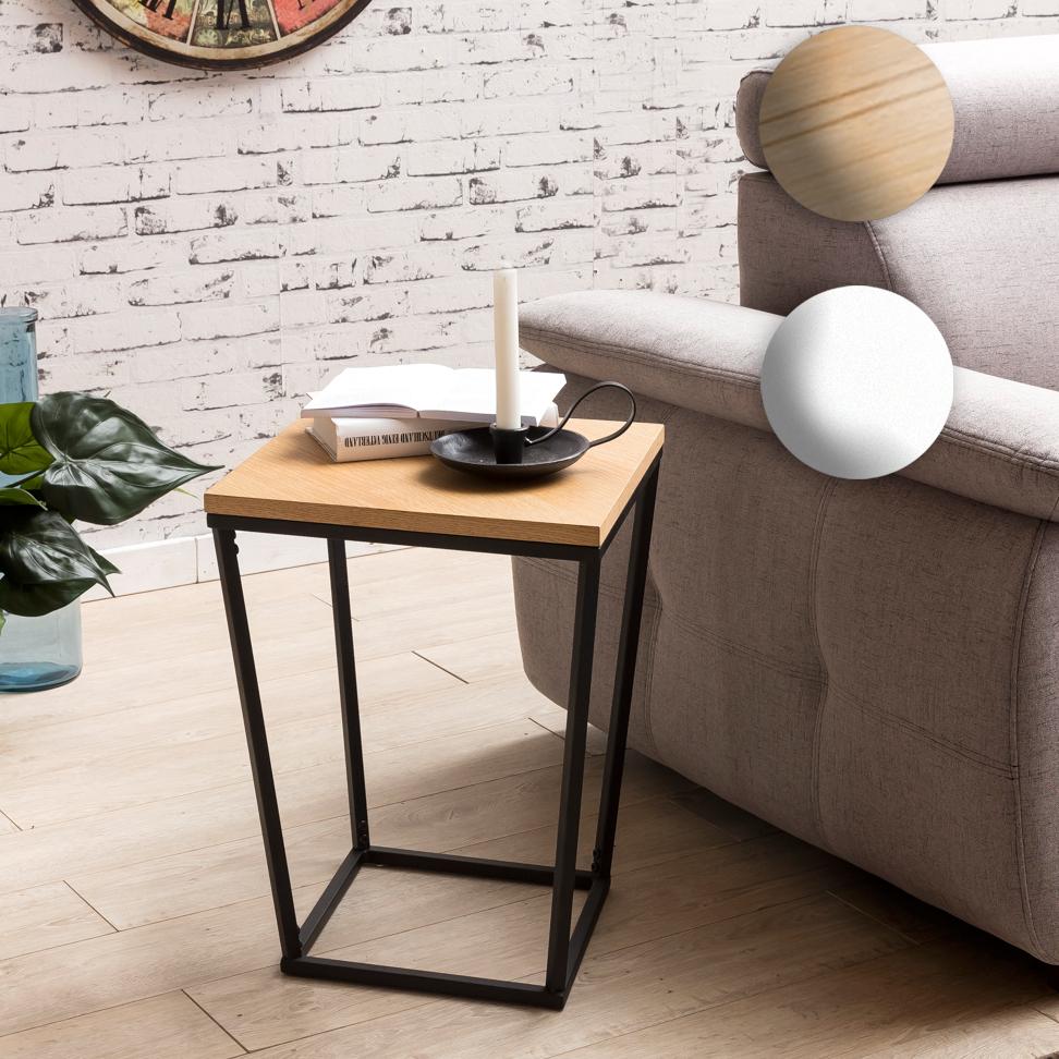 Finebuy beistelltisch scanio retro design mdf holz wei 60 for Beistelltisch 60 cm hoch
