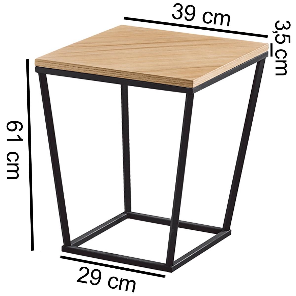 finebuy beistelltisch scanio retro design mdf holz wei 60 x 50 x 50 cm wohnzimmertisch. Black Bedroom Furniture Sets. Home Design Ideas