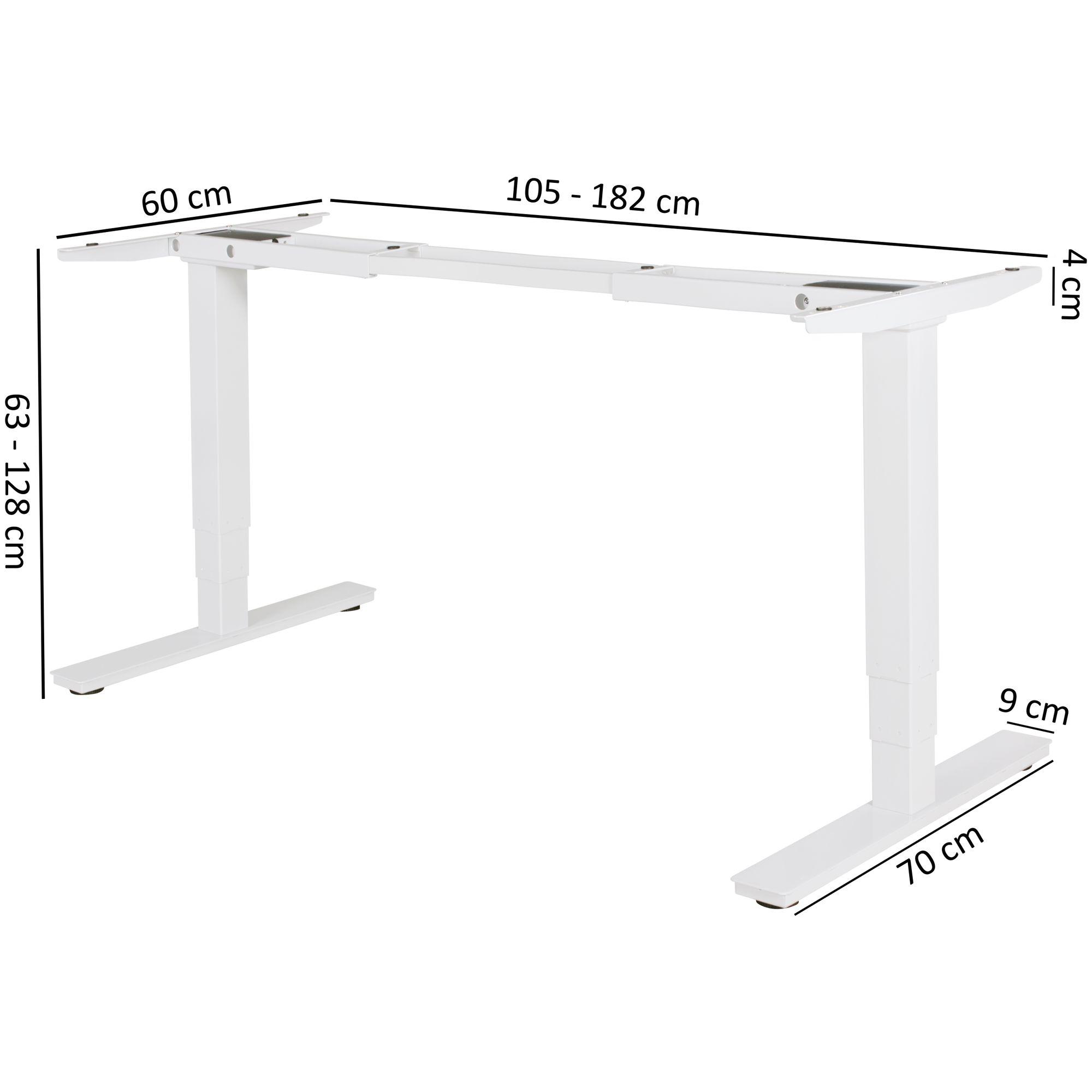 elektrisch h henverstellbares schreibtischgestell tischgestell memory funktion ebay. Black Bedroom Furniture Sets. Home Design Ideas
