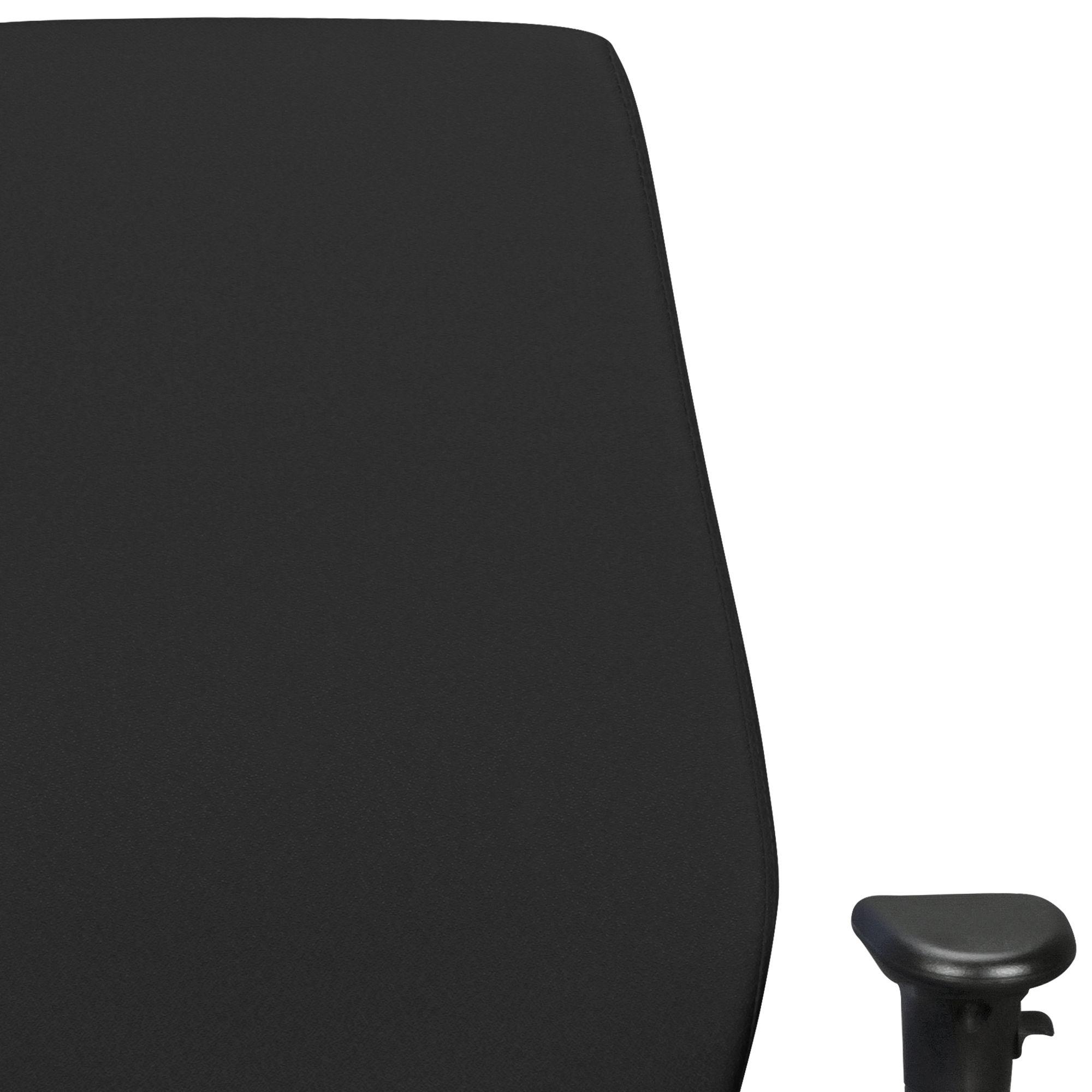 FineBuy Bürostuhl DAVE mit Stoff Bezug | Design Schreibtisch Stuhl mit Synchromechanik & Armlehnen | Drehstuhl Drehsessel ergonomisch 120 kg