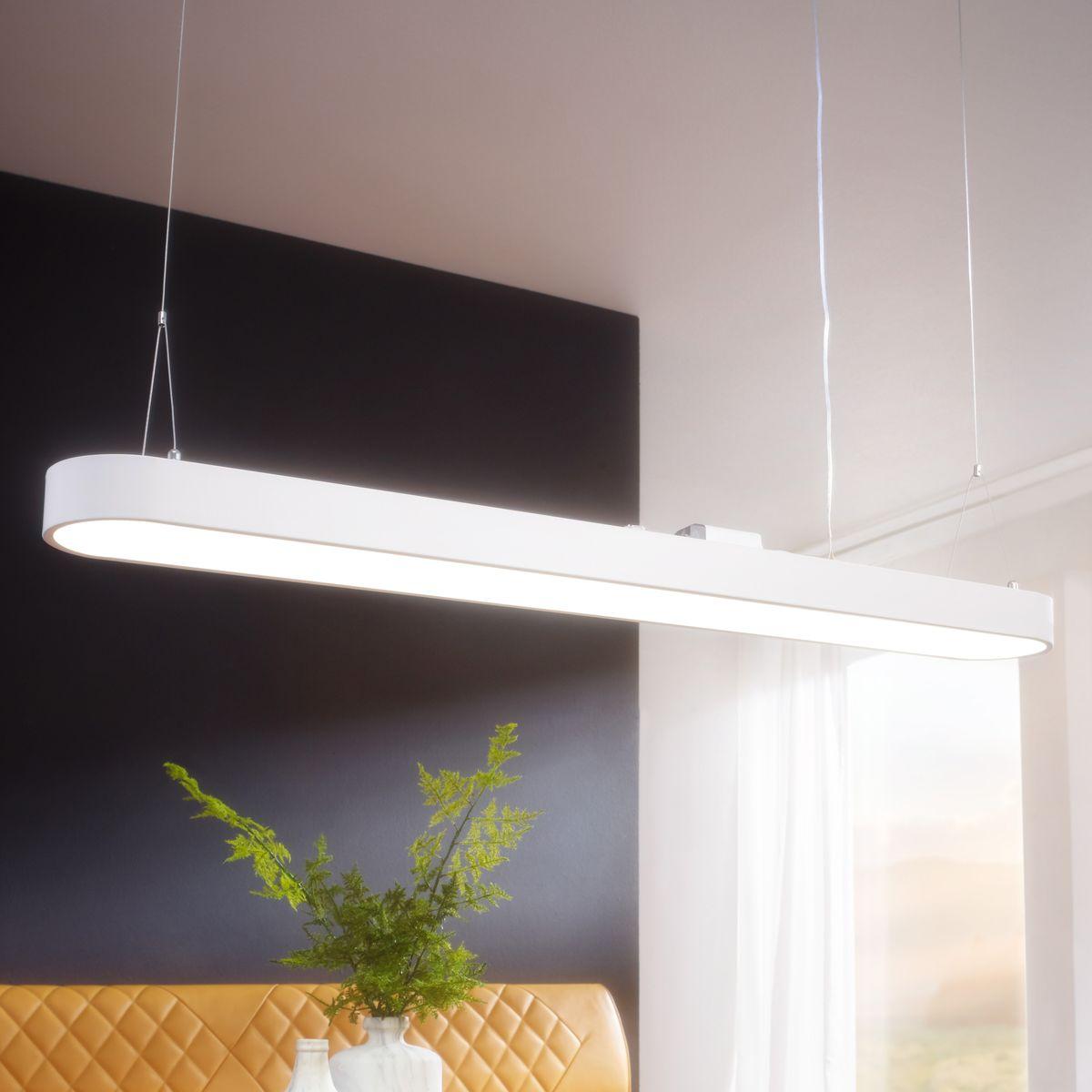 finebuy led deckenleuchte cord metall eek a b ro deckenlampe 48 watt 120 x 121 x 15 cm design. Black Bedroom Furniture Sets. Home Design Ideas