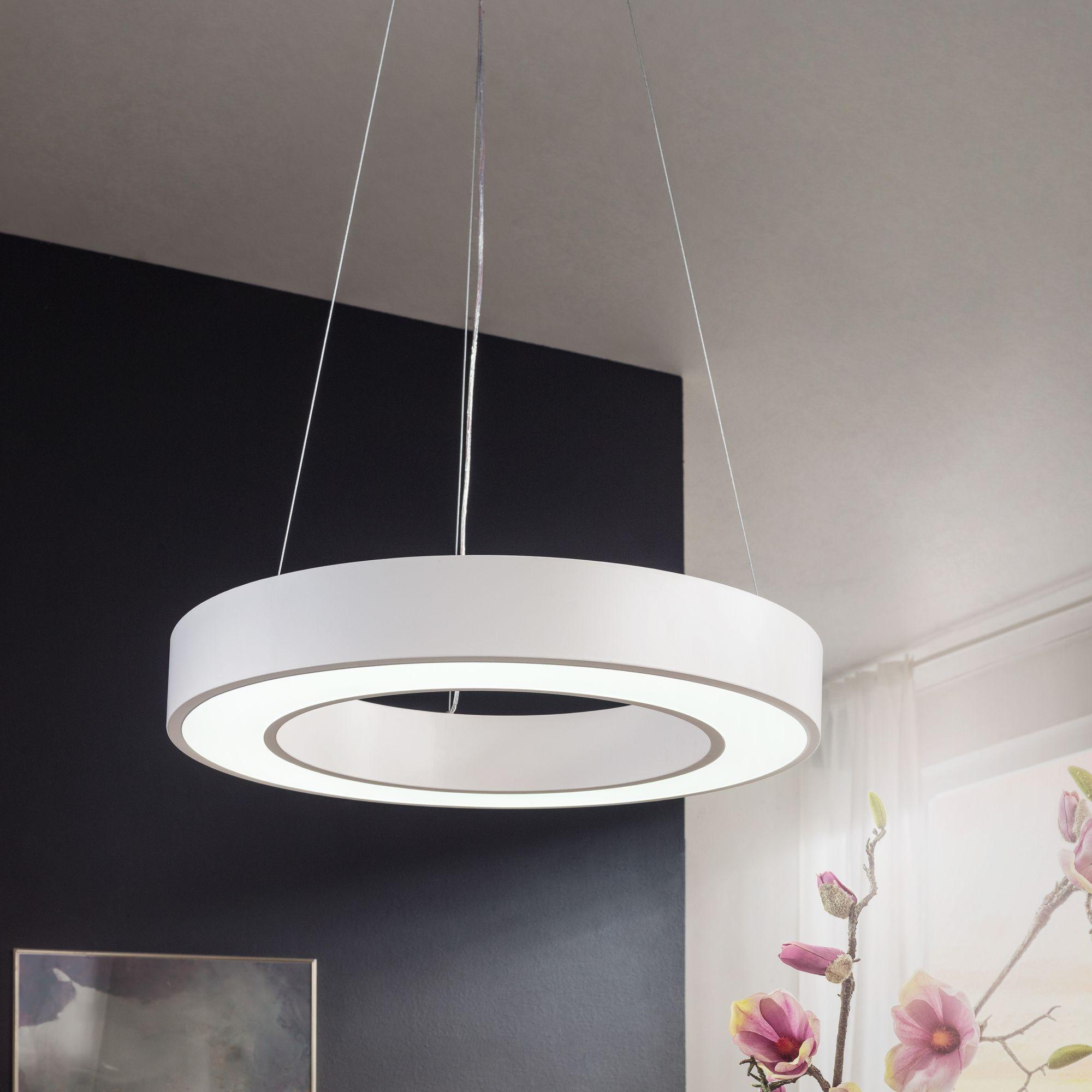 LED Deckenleuchte 48W rund Pendelleuchte 4080 Lumen Deckenlampe A+ Hängelampe   eBay