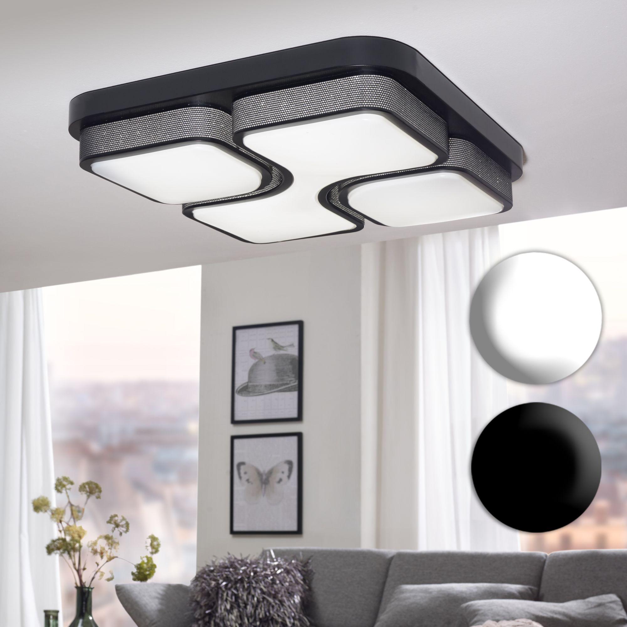 Modern LED Deckenlampe Wohnzimmer Deckenleuchte Wandlampe ...