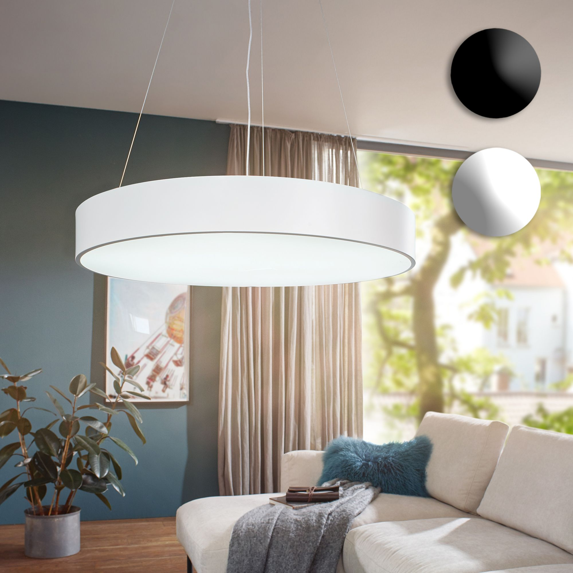 led deckenleuchte 92w rund pendelleuchte 7820 lumen deckenlampe a h ngelampe ebay. Black Bedroom Furniture Sets. Home Design Ideas