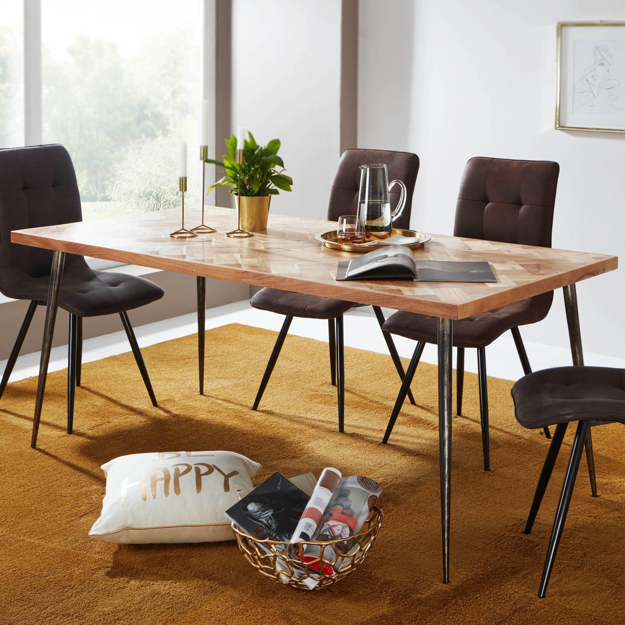 WOHNLING Esstisch LODI Esszimmertisch Massivholz Holztisch Tisch Esszimmer  180cm
