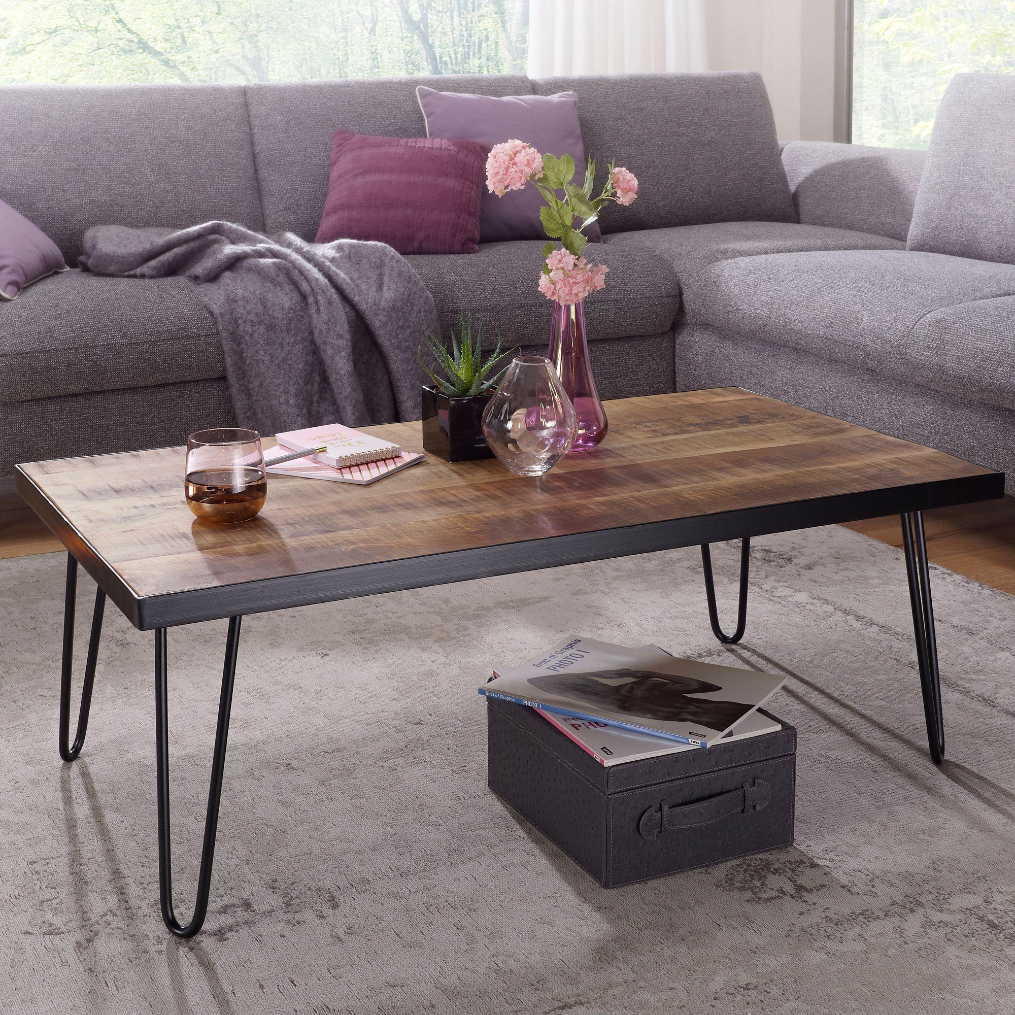 Faszinierend Wohnzimmertisch Holz Beste Wahl Finebuy Couchtisch Kinan 110 X 60 X
