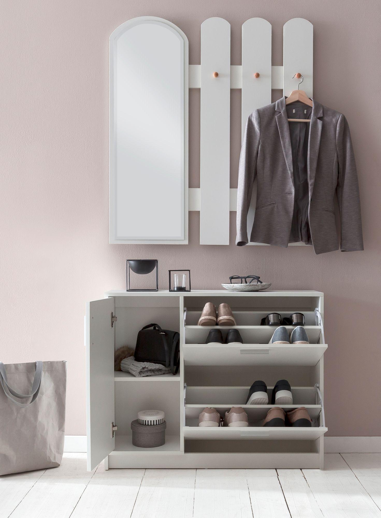 Häufig WOHNLING Garderobe WL5.821 Holz 90x172x24 cm Modern Wandgarderobe WZ84
