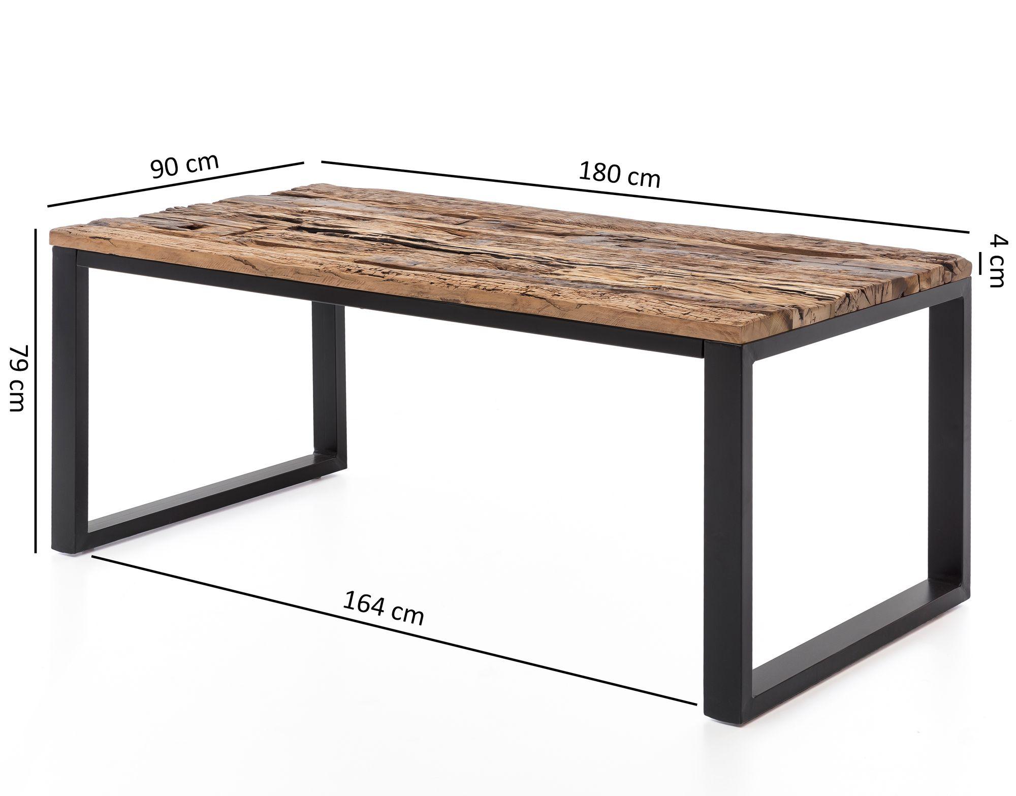 FineBuy Esstisch BALLARI Esszimmertisch Modern Holztisch Massiv   Design  Küchentisch Groß   Massivholztisch Esszimmer Industrial Style