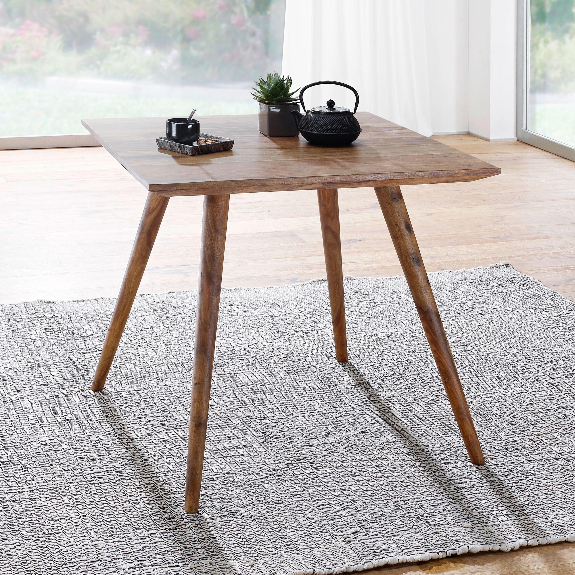 FineBuy Esszimmertisch Sheesham Rustikal Massiv Holz | Design Landhaus  Esstisch | Tisch Für Esszimmer Klein