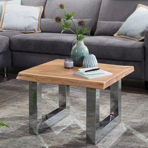 ... Tisch Wohnzimmer Stubentisch 179,95 U20ac; FineBuy Couchtisch ANURA 58 X 40  X 60 Cm Akazie Massiv Holz Metallgestell Braun | Baumstamm