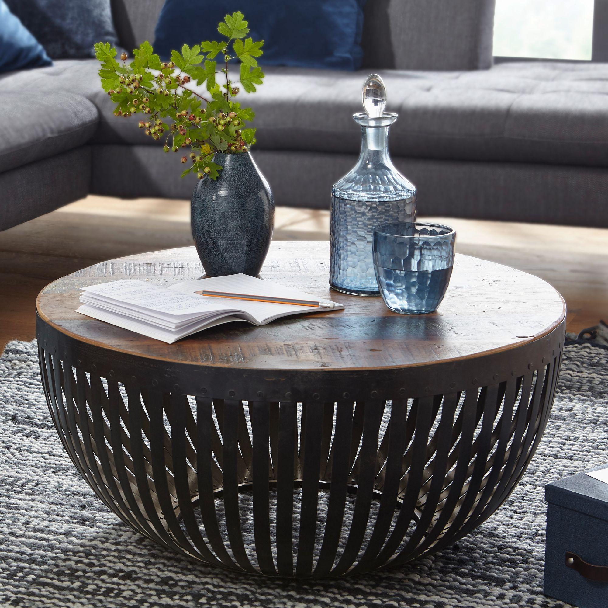 Wunderbar Couchtisch Dunkles Holz Beste Wahl Finebuy Nishu 70x33x70 Cm / Metall Wohnzimmertisch