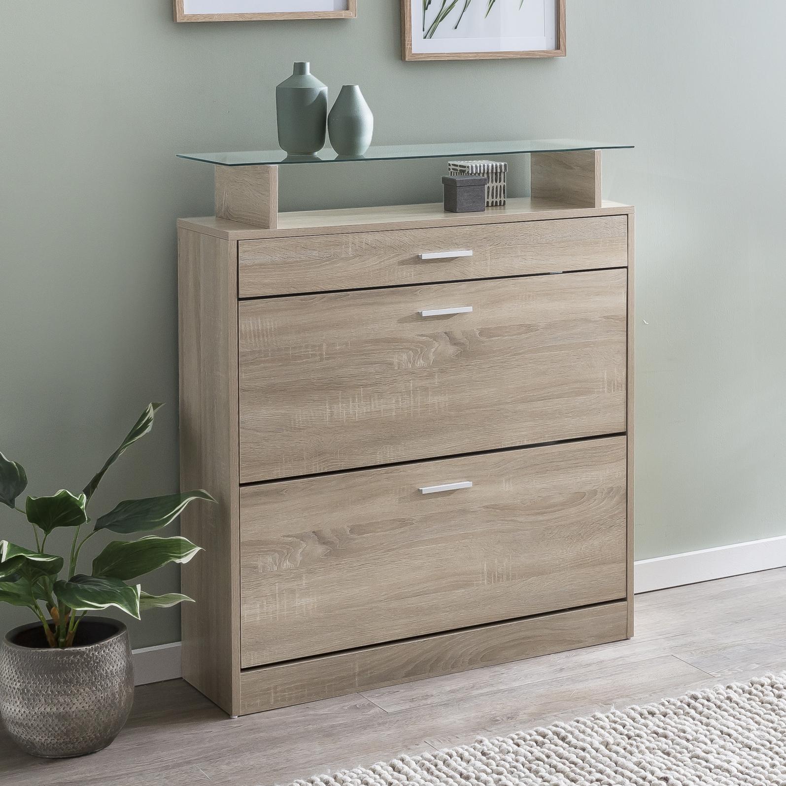 finebuy schuhkipper schuhschrank schmal schuhkommode holz schuhregal hoch ebay. Black Bedroom Furniture Sets. Home Design Ideas