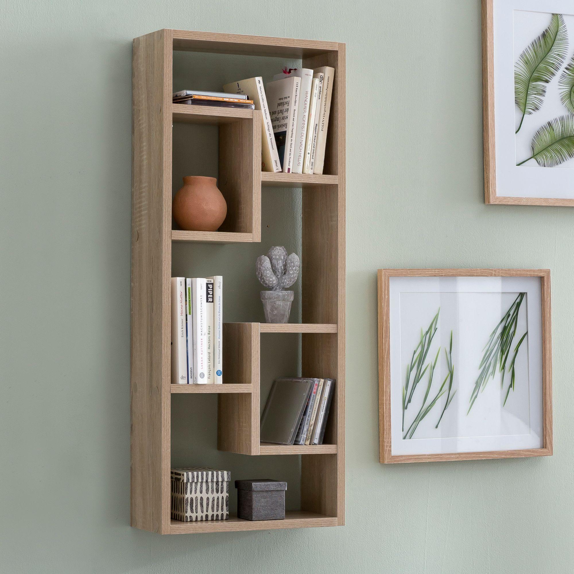 Finebuy Wandregal Rose Hangeregal 36 X 90 X 13 5 Cm Holz Wandboard