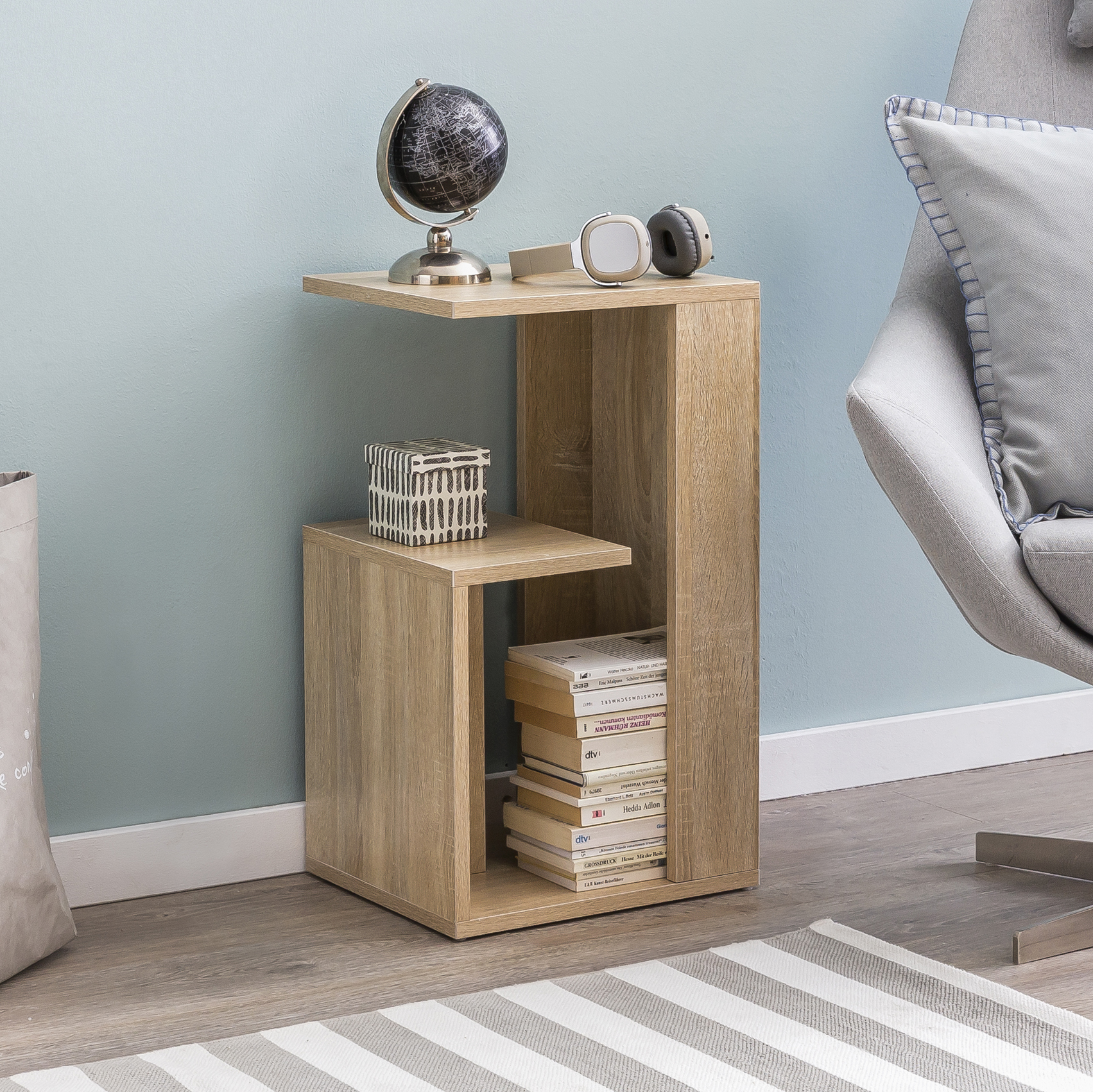beistelltisch holz anstelltisch couchtisch klein sofatisch ebay. Black Bedroom Furniture Sets. Home Design Ideas