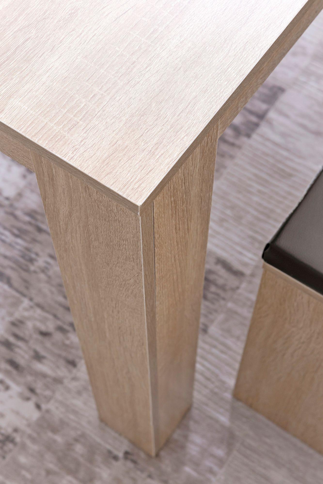 Finebuy Esszimmer Set Fb51797 Sonoma Eiche Esstisch Mit 2 Banken Holz Modern Essgruppe Tischgruppe Kuche