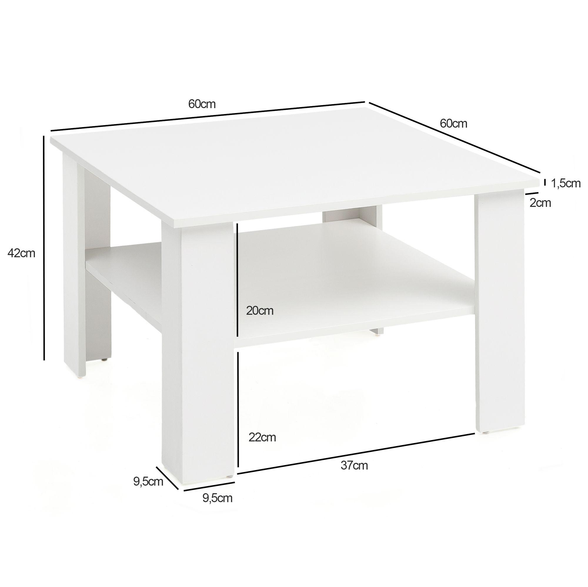 Finebuy Couchtisch Sv51868 Tisch Holz 60x42x60cm Wohnzimmertisch Sofatisch Klein