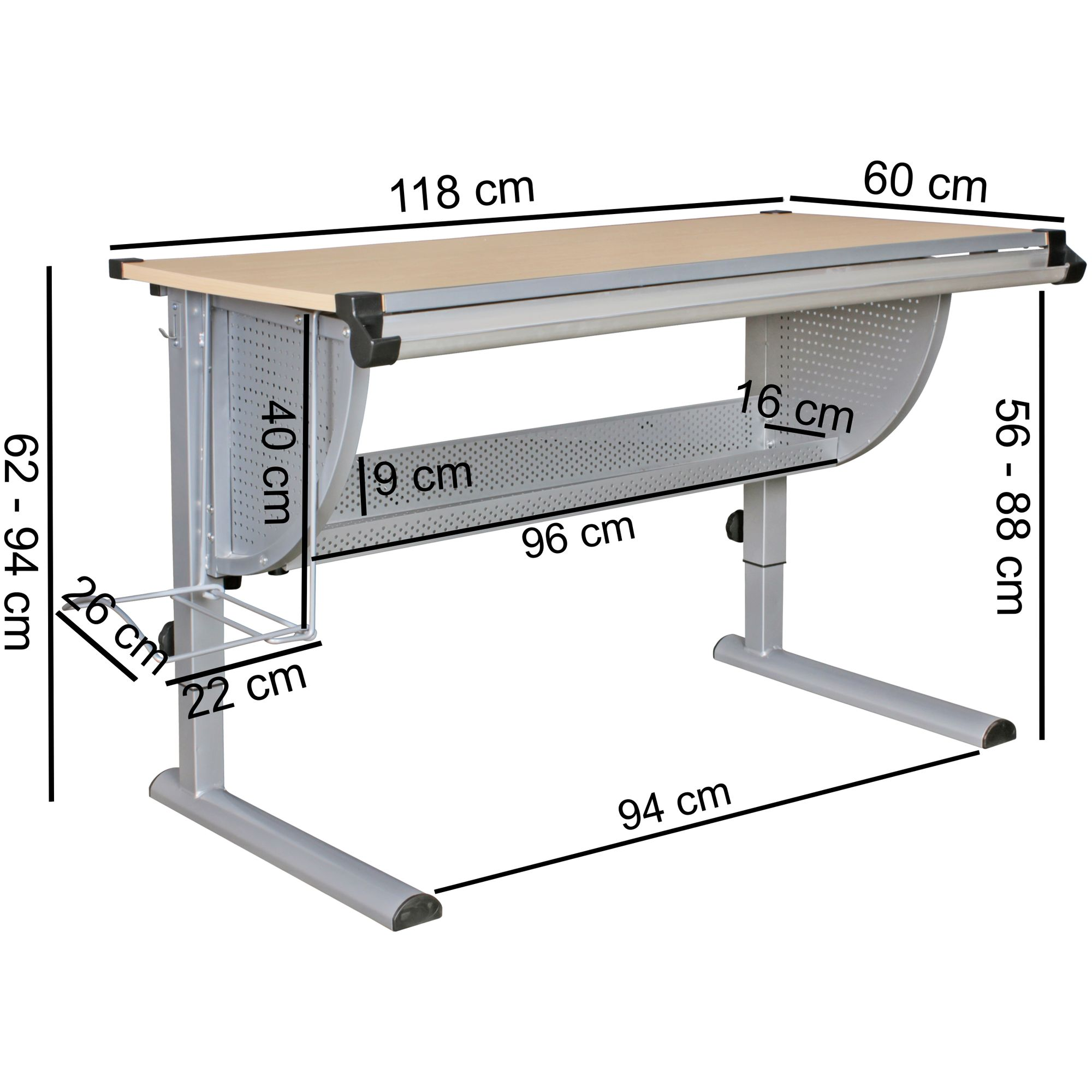 mit und Stuhl Kinderschreibtisch Stoff Komplettset Rollcontainer Kinderzimmer RL4Aj5q3