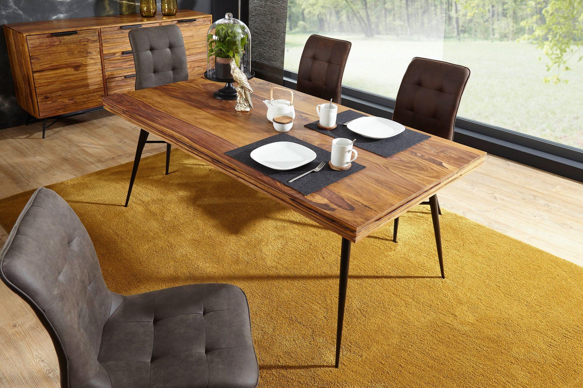 Esszimmertisch Mit 4 Stühlen Sheesham Holz Massiv Esstisch Set 180cm