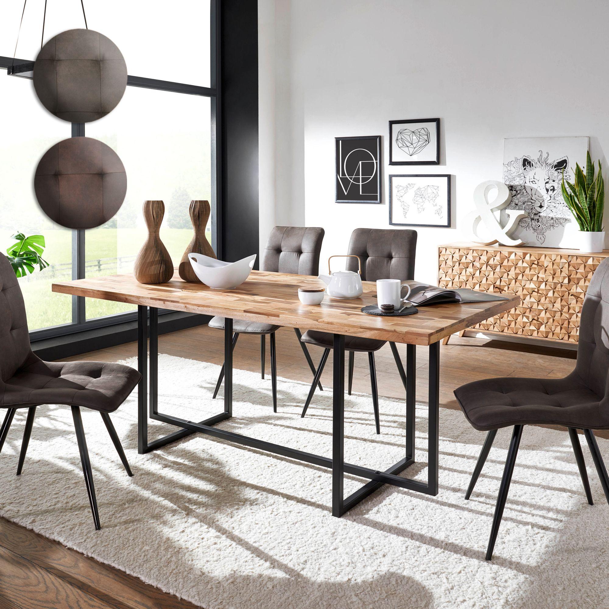 esszimmertisch mit 4 st hlen holz massiv esstisch set 200. Black Bedroom Furniture Sets. Home Design Ideas
