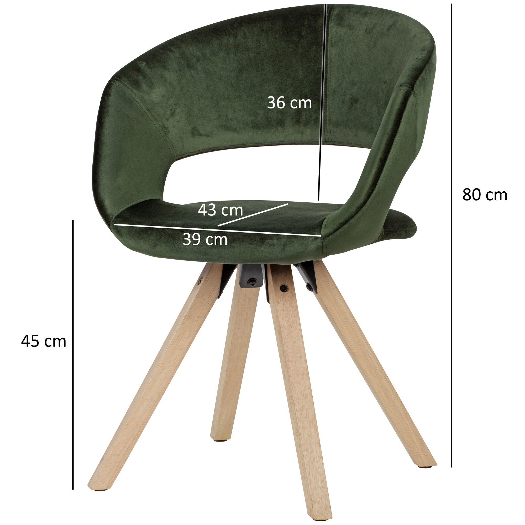 Wohnling Esszimmerstuhl Grun Samt 110kg Kuchenstuhl Mit Lehne Stuhl Stoff Modern