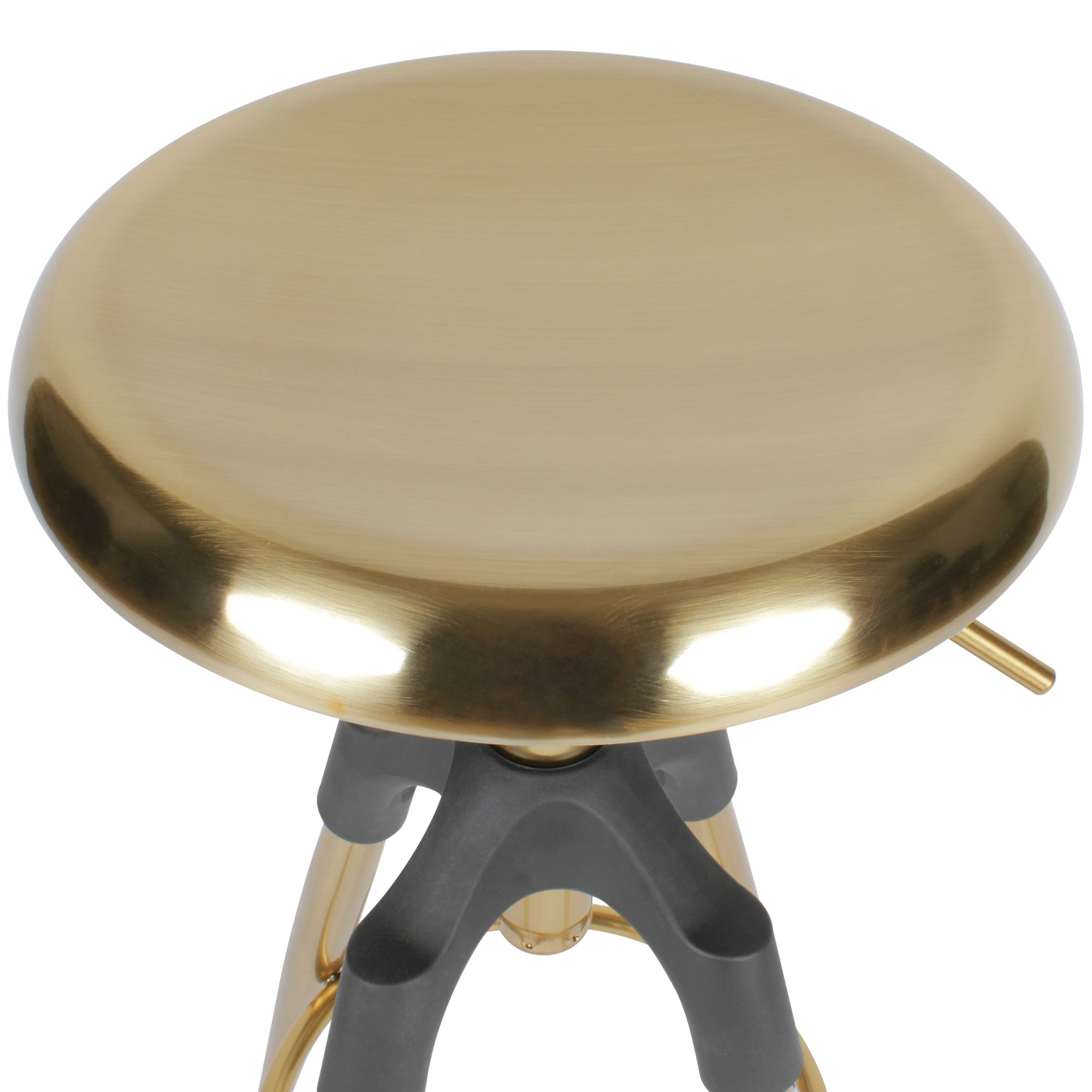 Wohnling Barhocker Gold Metall 72 80 Cm Design Barstuhl 100 Kg Maximalbelastbarkeit Tresenhocker Industrial