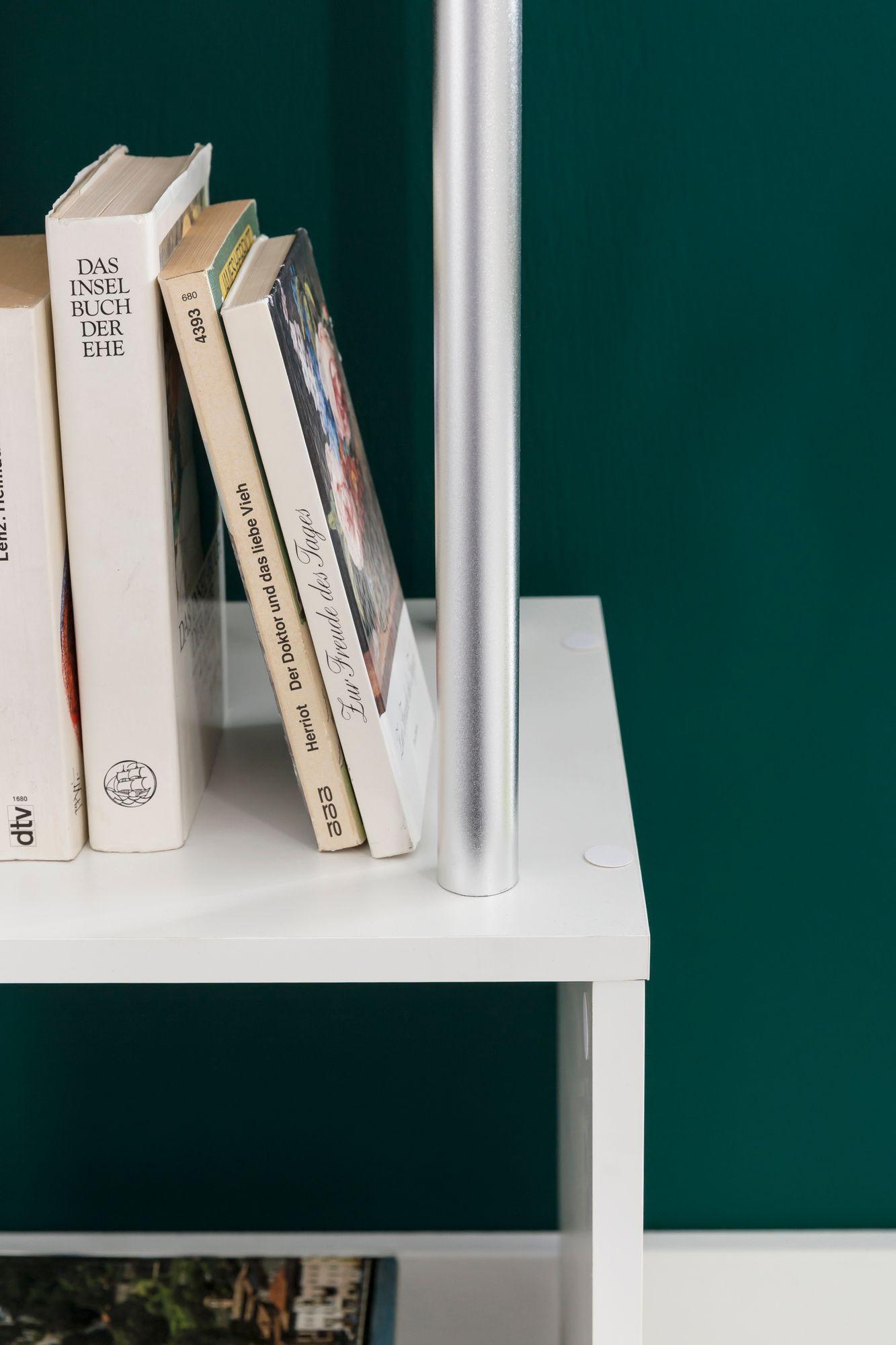 FineBuy Standregal Bücherregal Groß Regal Hoch Raumteiler Freistehend Holzregal