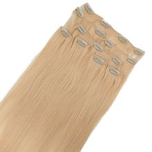 Clip In Extensions Deluxe - Virgin Remy Echthaar 50 cm Farb: #613 hellblond