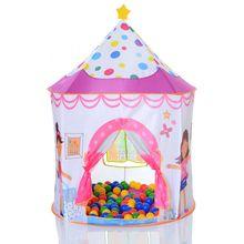 Pop Up Schloss Prinzessin Spielzelt als Bällebad mit 100 Bällen