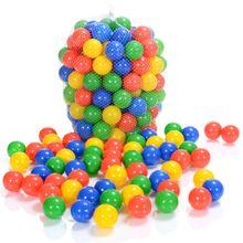 100 bunte Spielbälle 6 cm mit Prüfzeichen