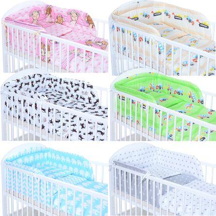 5 Teile Baby Bettwäsche Bettset 135x100 cm