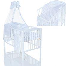 Kinderbett 120x60 weiss + GREYSTARS Bettwäsche Set 9 teilig
