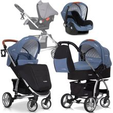 Virage Ecco 3in1 Kombikinderwagen Farbe: Denim