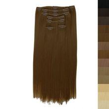 Clip In Extensions 7 Haarteile 60 cm Farbe: mittelbraun
