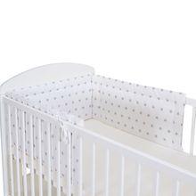 Baby Bettnestchen STARS in 3 Größen Motiv.: weiss & graue Sterne