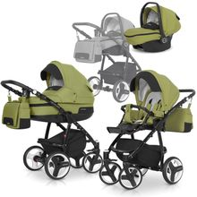 RE-FLEX 3in1 Kombikinderwagen Hightech Firstclass Farbe: Green Olive