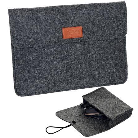 Fliess Tablet & Notebook Mappe Grau Melange