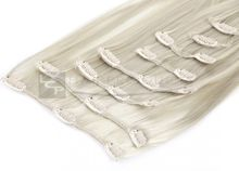 Clip In Extensions 8 Haarteile 60 cm Farbe: platin