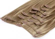Clip In Extensions 8 Haarteile 60 cm Farbe: naturbraun