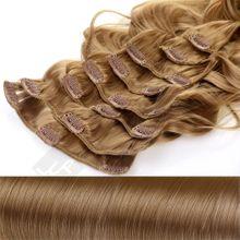 Clip In Extensions 8 Haarteile 55 cm Gewellt Farbe: naturblond