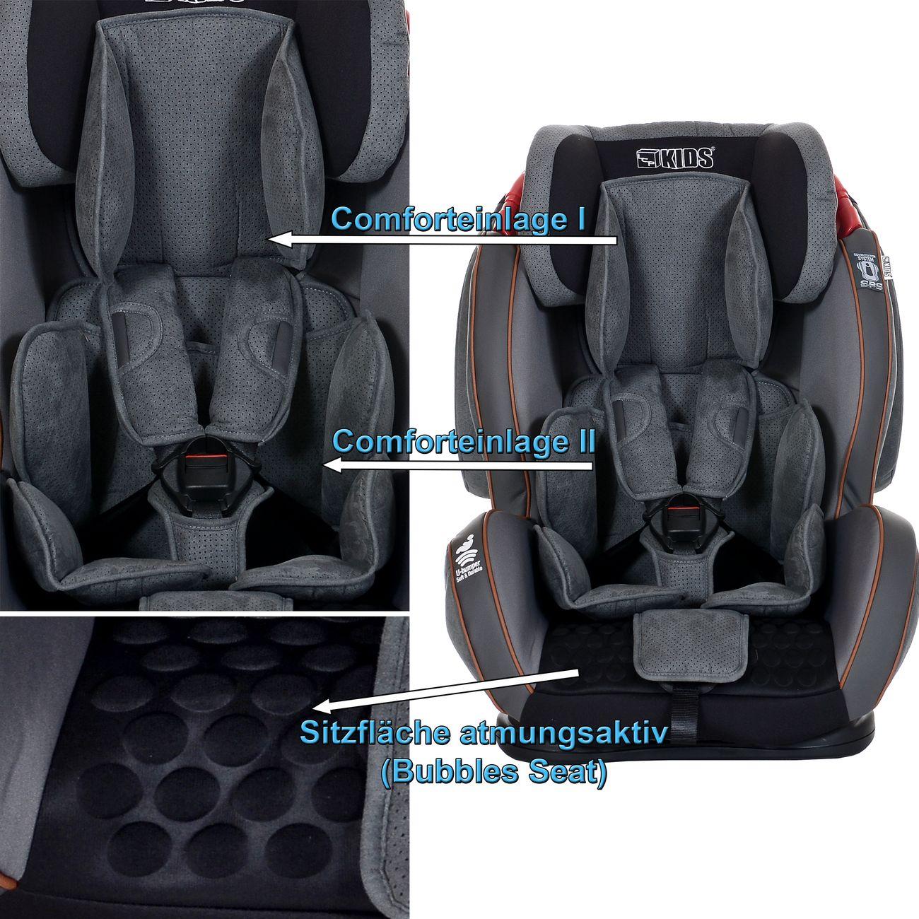autokindersitz gt 9 36 kg autositz gruppe 1 2 3. Black Bedroom Furniture Sets. Home Design Ideas